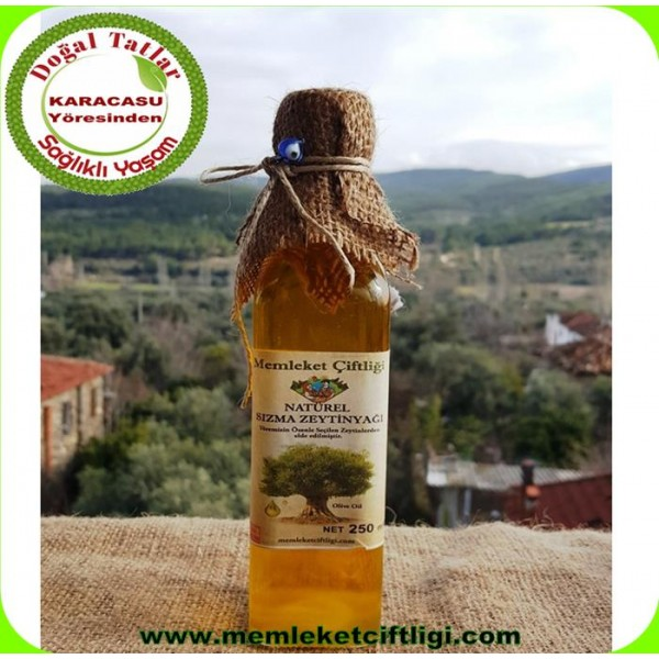 Doğal Sızma Zeytin Yağı 250 ml ( 0,5 Asit - Cam Şişe )