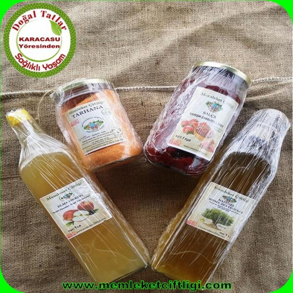 Doğal Salça-Tarhana-Sirke-Zeytinyağ Paketi