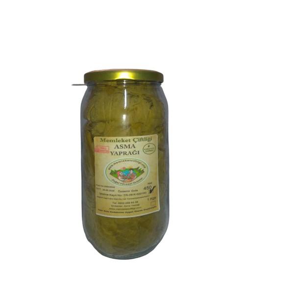 Doğal Taze Asma Yaprağı 450 gr (Cam Kavanoz)