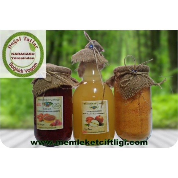 Doğal Avantajlı Salça-Tarhana-Sirke Paketi