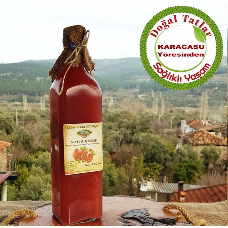 Doğal Fermente Nar Sirkesi 500 ml (Cam Şişe)