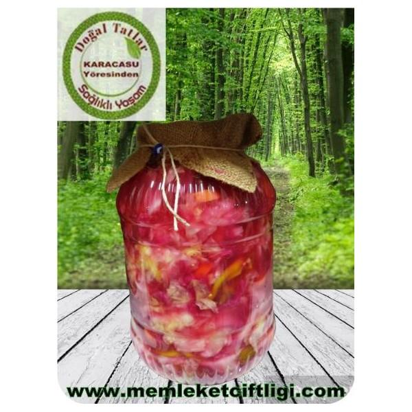 Doğal Fermente Karışık  Turşu Kırmızı Lahanalı (Brüt 5000 gr)