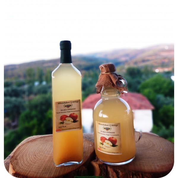 2 Şişe  Doğal Fermente Elma Sirkesi Cam Şişe(Ücretsiz Kargo ) Kampanyalı Paket