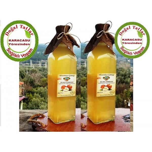 Doğal Fermente Elma Sirkesi 1 Lt (12 Lü Ekonomik Paket)