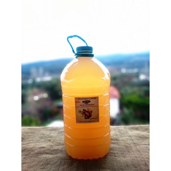 Doğal Fermente Alıç Sirkesi 5 LT  (Pet Şişe)